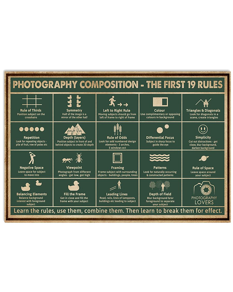 Retro Green Photography Composition 24x16 Poster