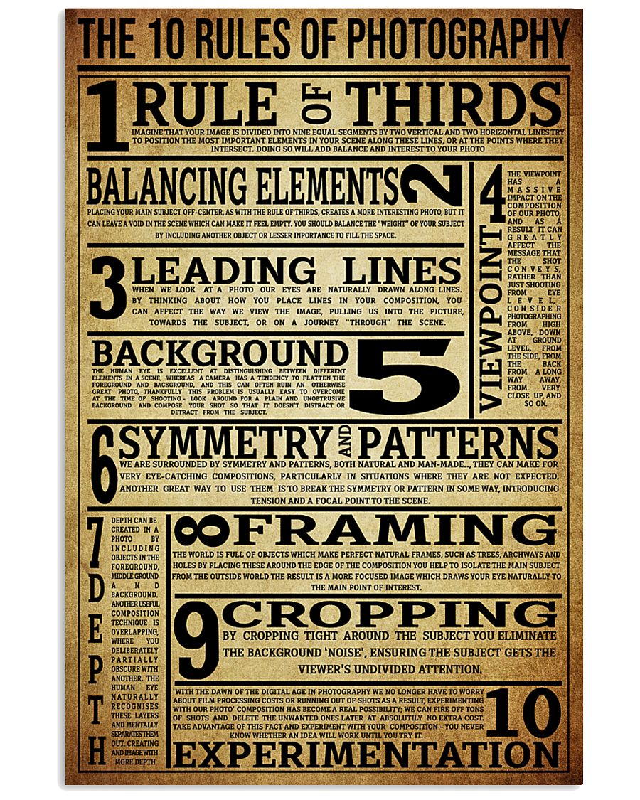 The 10 Rules Of Photography 16x24 Poster