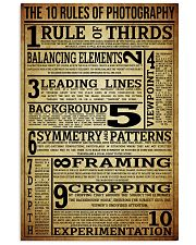 The 10 Rules Of Photography 16x24 Poster front