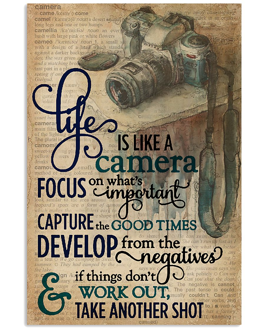 Dictionary Vinatge Life Is Like A Camera 11x17 Poster