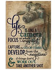 Dictionary Vinatge Life Is Like A Camera 11x17 Poster front
