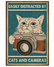 Retro Green Easily Distracted Cats And Cameras 16x24 Poster front