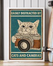 Retro Green Easily Distracted Cats And Cameras 16x24 Poster lifestyle-poster-4