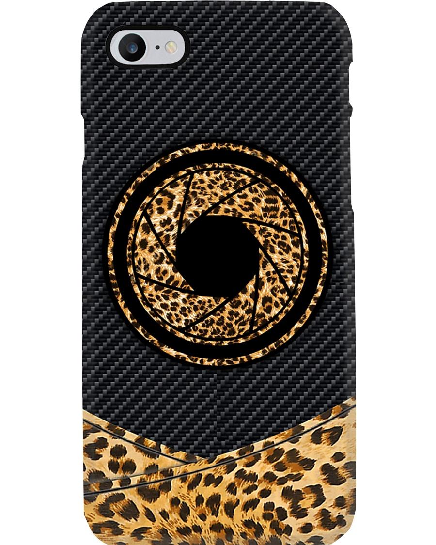 Leopard Sunflower Camera Printed Phone Case
