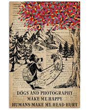 Vintag Dogs And Photography Make Me Happy 11x17 Poster front