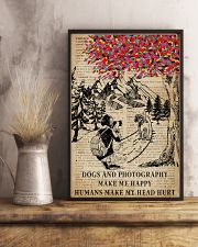 Vintag Dogs And Photography Make Me Happy 11x17 Poster lifestyle-poster-3