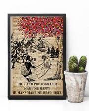 Vintag Dogs And Photography Make Me Happy 11x17 Poster lifestyle-poster-8
