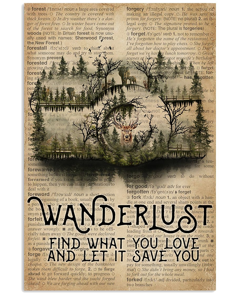 Vintage Dictionary Wanderlust Forest Camera 11x17 Poster