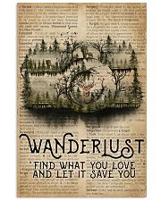 Vintage Dictionary Wanderlust Forest Camera 11x17 Poster front