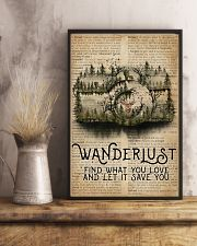 Vintage Dictionary Wanderlust Forest Camera 11x17 Poster lifestyle-poster-3