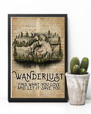 Vintage Dictionary Wanderlust Forest Camera 11x17 Poster lifestyle-poster-8