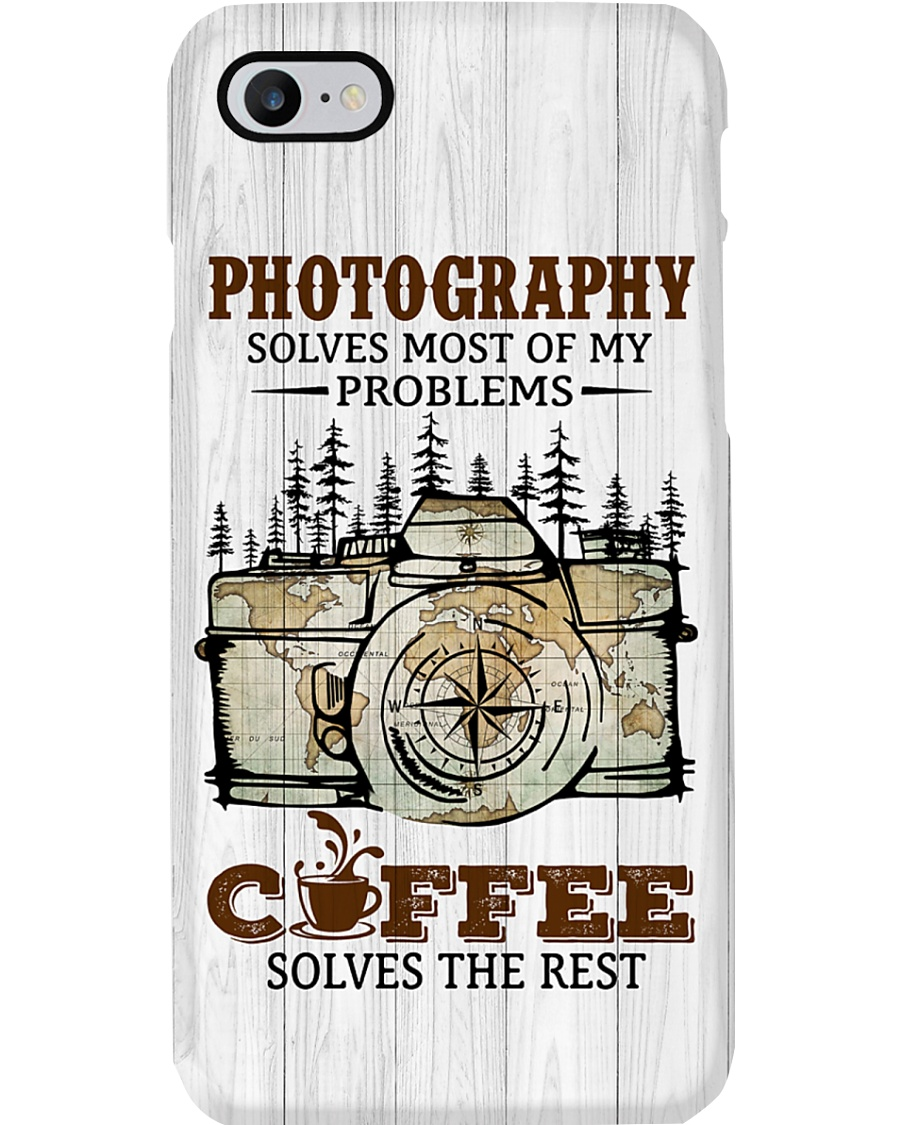Camera And Coffee Solve Problems Printed Phone Case