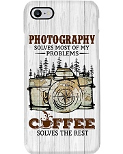 Camera And Coffee Solve Problems Printed Phone Case i-phone-8-case