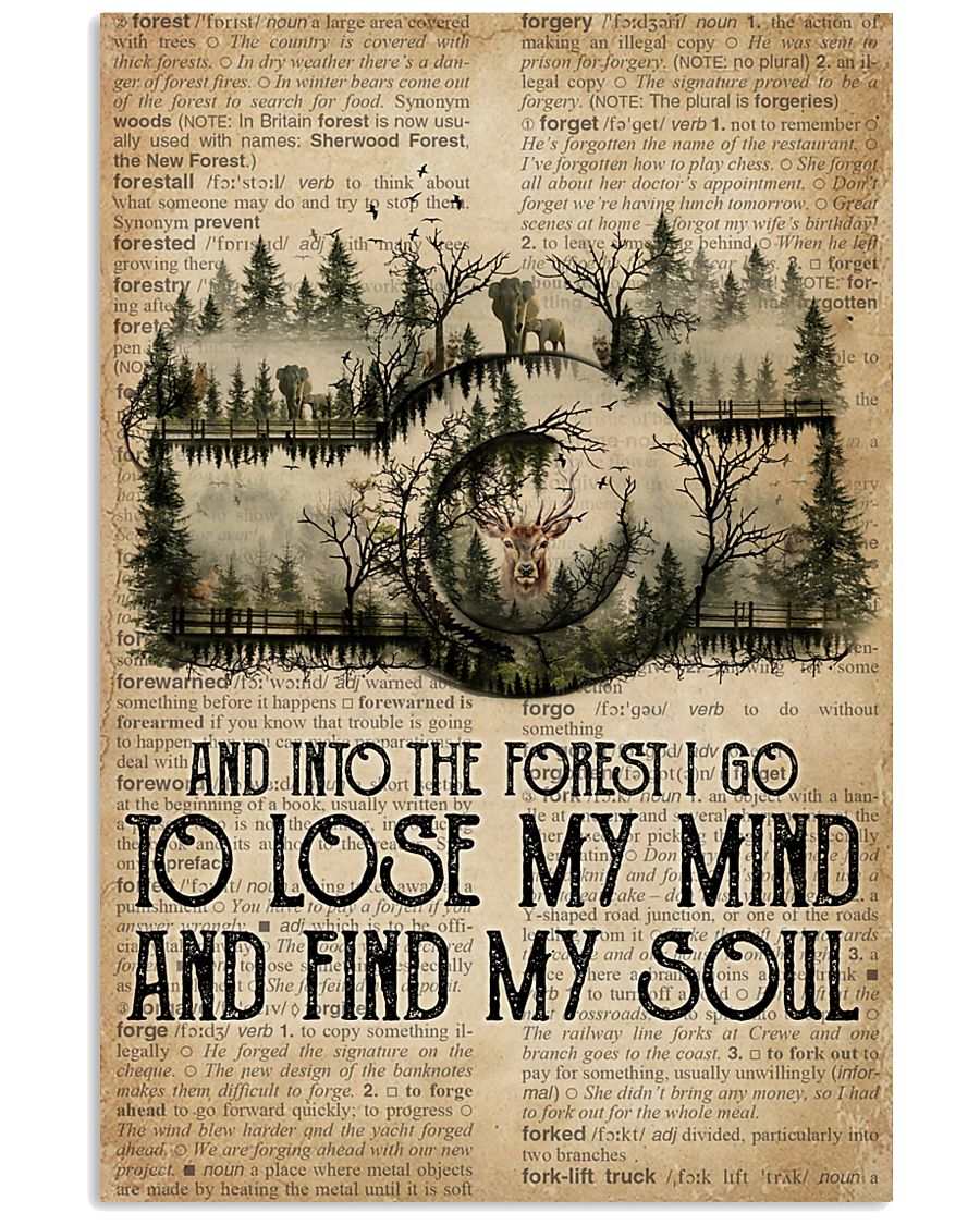 Vintage Dictionary Find My Soul Forest Camera 11x17 Poster