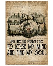 Vintage Dictionary Find My Soul Forest Camera 11x17 Poster front