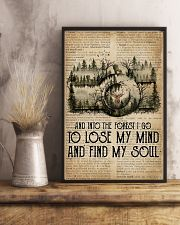 Vintage Dictionary Find My Soul Forest Camera 11x17 Poster lifestyle-poster-3