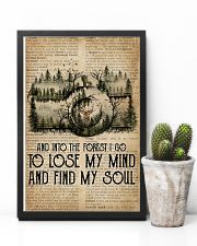Vintage Dictionary Find My Soul Forest Camera 11x17 Poster lifestyle-poster-8