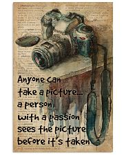 A Person With A Passion Camera Dictionary 16x24 Poster front