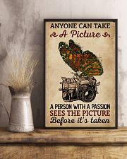 Anyone Can Take A Picture Camera Butterfly 11x17 Poster lifestyle-poster-3