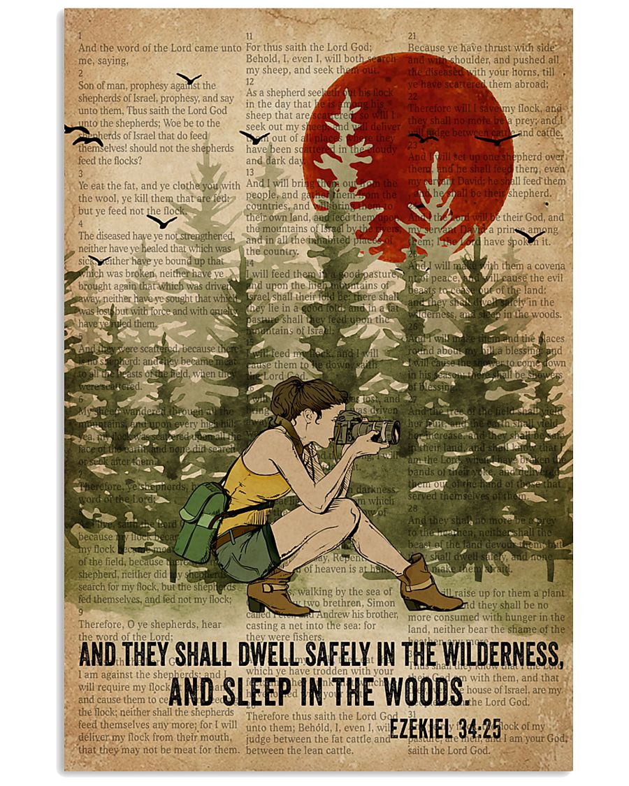 Bible Sleep In The Woods Photography 11x17 Poster