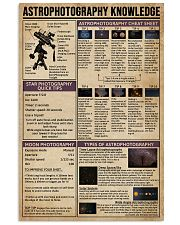 Astrophotography Knowledge 11x17 Poster front