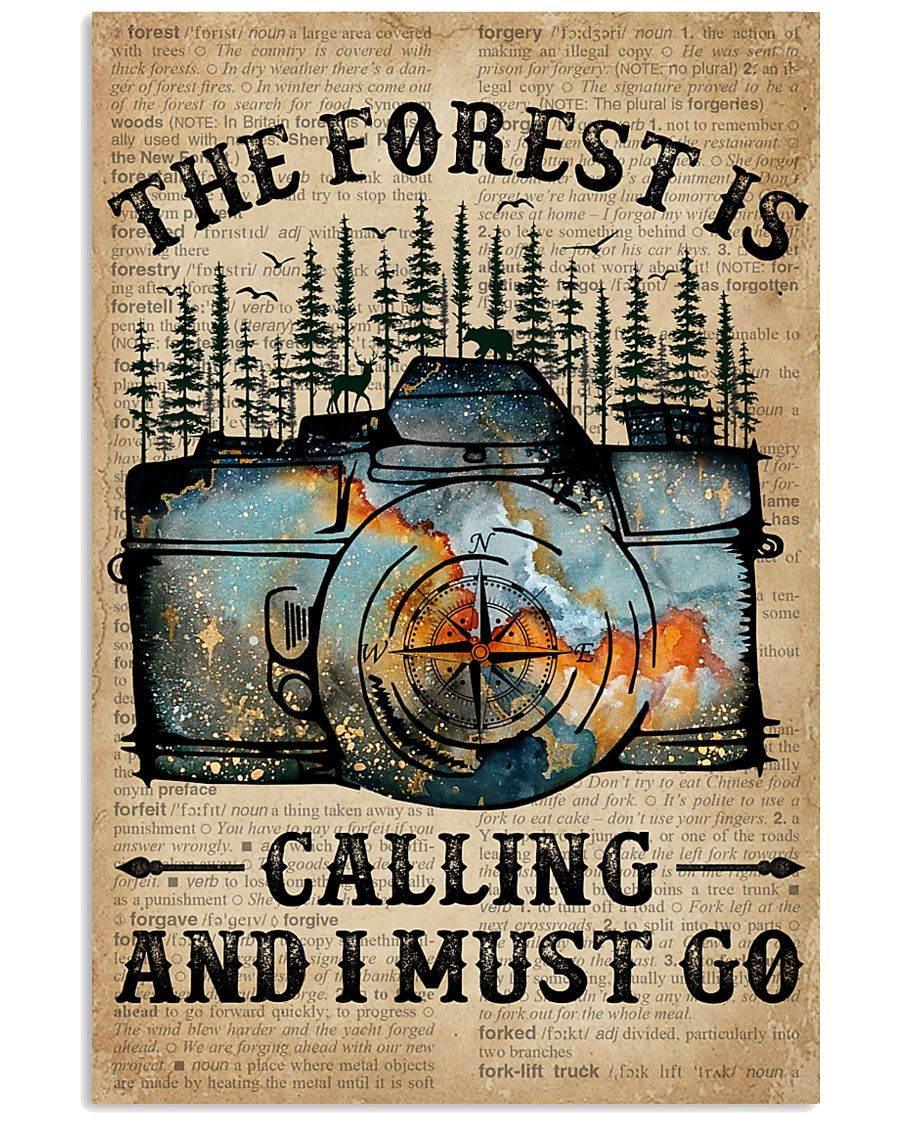 Dictionary The Forest Is Calling Camera 11x17 Poster