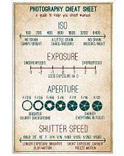 Photography Cheat Sheet 11x17 Poster front