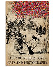 Vintage Dictionary Need Is Black Cats Photography 11x17 Poster front