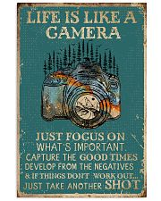 Retro Teal Life Is A Camera 11x17 Poster front