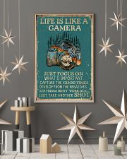 Retro Teal Life Is A Camera 11x17 Poster lifestyle-holiday-poster-1