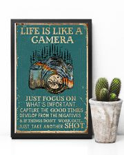 Retro Teal Life Is A Camera 11x17 Poster lifestyle-poster-8