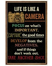 Life Is Like Camera Retro Black 16x24 Poster front
