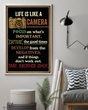 Life Is Like Camera Retro Black 16x24 Poster lifestyle-poster-1