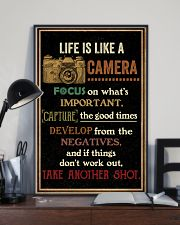 Life Is Like Camera Retro Black 16x24 Poster lifestyle-poster-2