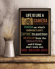 Life Is Like Camera Retro Black 16x24 Poster lifestyle-poster-3