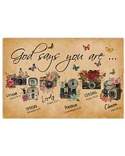 God Say You Are Flower Camera 24x16 Poster front