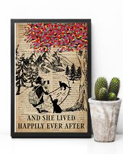 Vintage Lived Happily Black Cat Photography 11x17 Poster lifestyle-poster-8