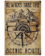 Vintage Always Take The Scenic Route Camera 11x17 Poster front