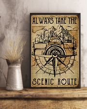 Vintage Always Take The Scenic Route Camera 11x17 Poster lifestyle-poster-3
