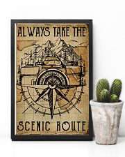 Vintage Always Take The Scenic Route Camera 11x17 Poster lifestyle-poster-8