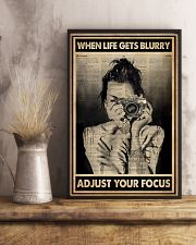 When Life Get Blurry Adjust Your Focus Photography 16x24 Poster lifestyle-poster-3