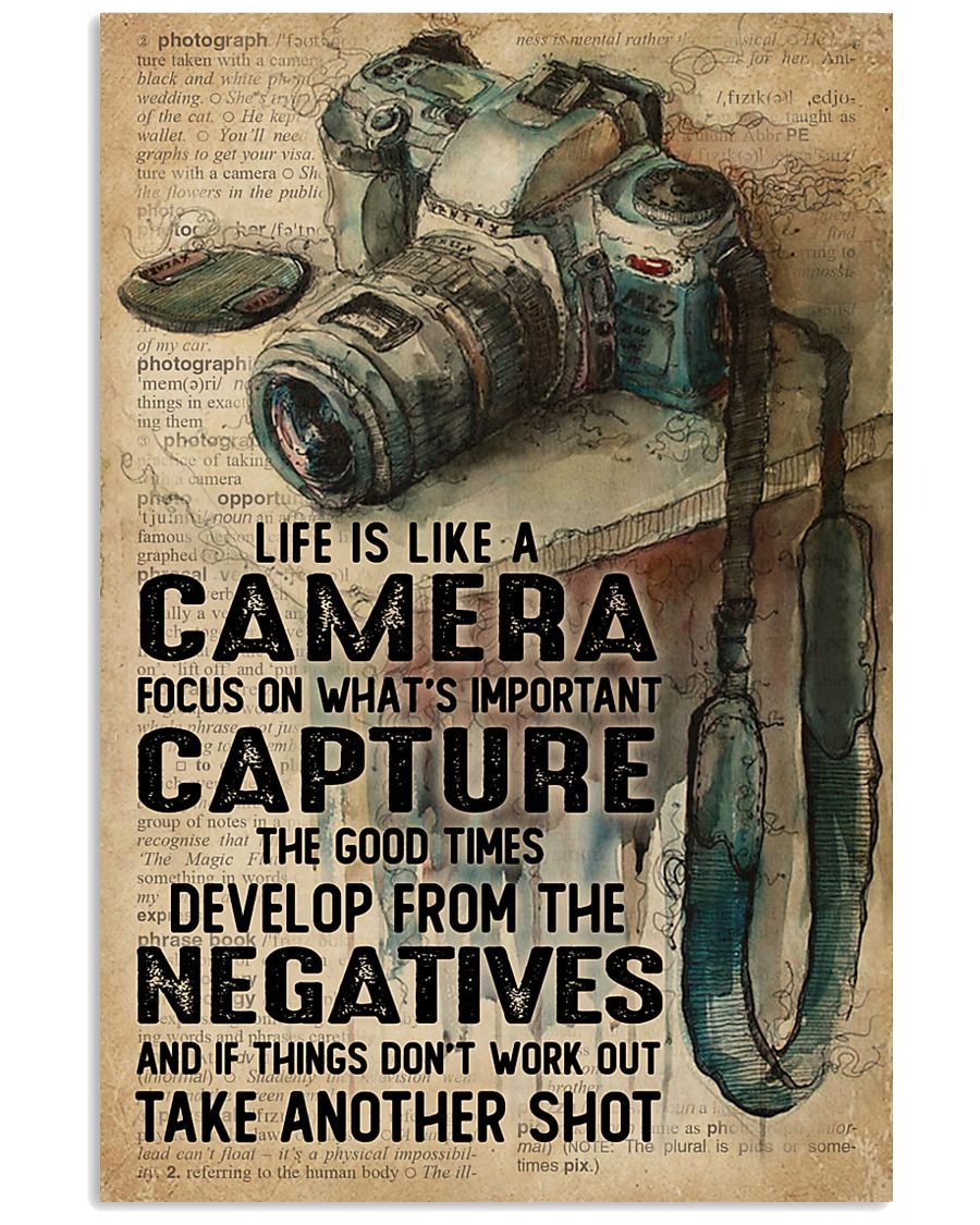 Life Is Like Camera Dictionary 16x24 Poster