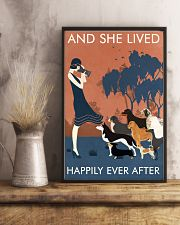 Vintage Girl Dogs Lived Happily Photography 11x17 Poster lifestyle-poster-3