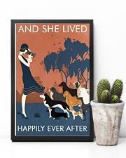 Vintage Girl Dogs Lived Happily Photography 11x17 Poster lifestyle-poster-8