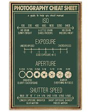Retro Green Photography Cheat Sheet 16x24 Poster front