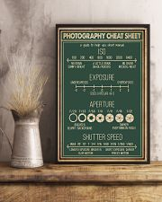 Retro Green Photography Cheat Sheet 16x24 Poster lifestyle-poster-3