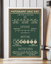 Retro Green Photography Cheat Sheet 16x24 Poster lifestyle-poster-4