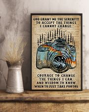 God grant me Dictionary Blue Camera 11x17 Poster lifestyle-poster-3