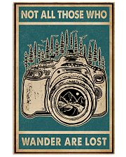 Retro Green Who Wander Are Lost Camera 11x17 Poster front
