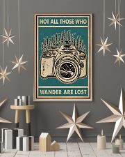 Retro Green Who Wander Are Lost Camera 11x17 Poster lifestyle-holiday-poster-1